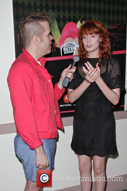 Perez Hilton, Florence and the Machine and Florence Welch 4