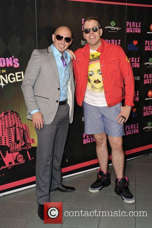 Pitbull and Perez Hilton Perez Hilton's 'One Night...