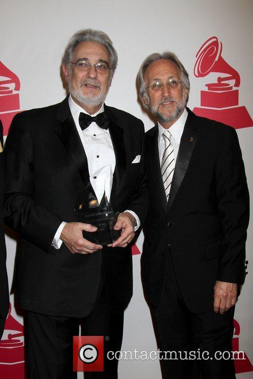 Placido Domingo and Neil Portnow 2010 Person Of...