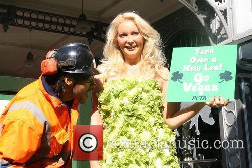 Peta photocall at Borough Market, Lettuce dress worn...