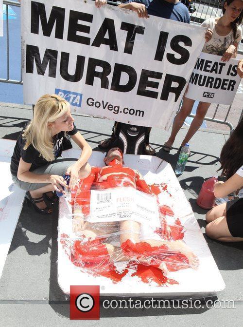 PETA Members show Manhattan that 'we're all made...