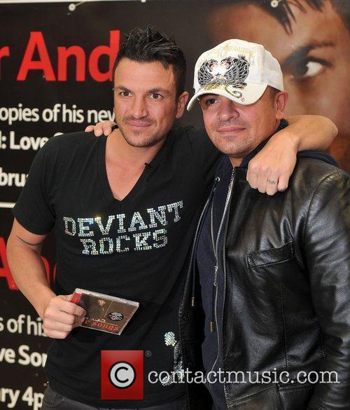 Peter Andre with his brother Mike Andre Peter...