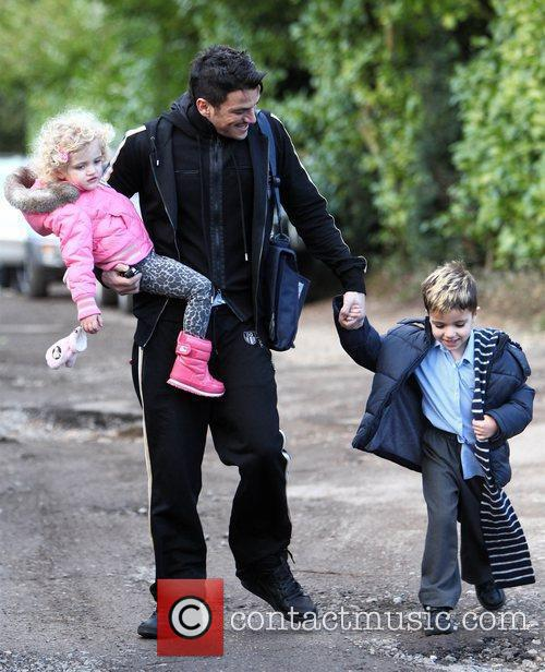 Peter Andre with Princess Tiaamii and Junior after...