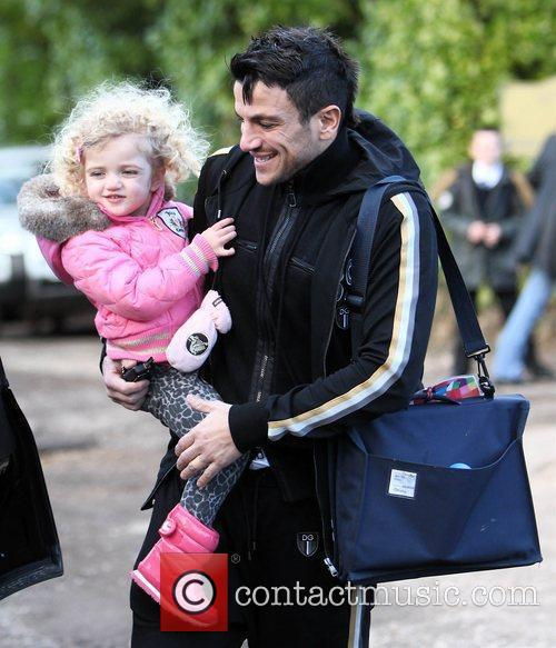 Peter Andre with Princess Tiaamii  after picking...
