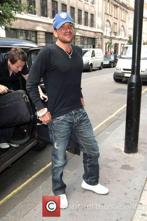 Peter Andre arriving at the BBC radio Two...