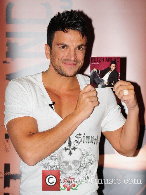 Promoting his new single 'Defender' at Asda