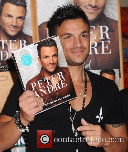 Peter Andre at a signing for his new...