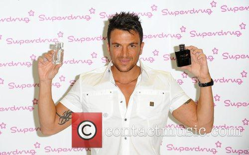 Peter Andre  launches his new mens frangrance...