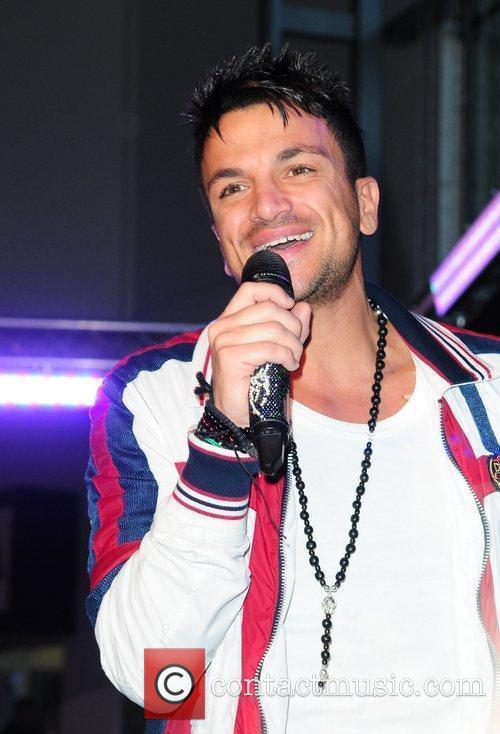 Peter Andre performs at the Lowery Outlet Mall...