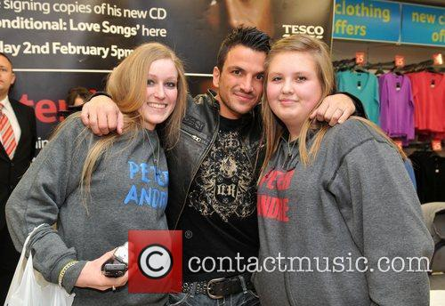 Peter Andre with fans Peter Andre promotes and...