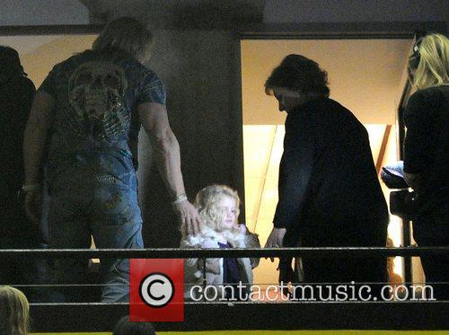 Peter Andre's daughter Princess Tiaamii watching with family...