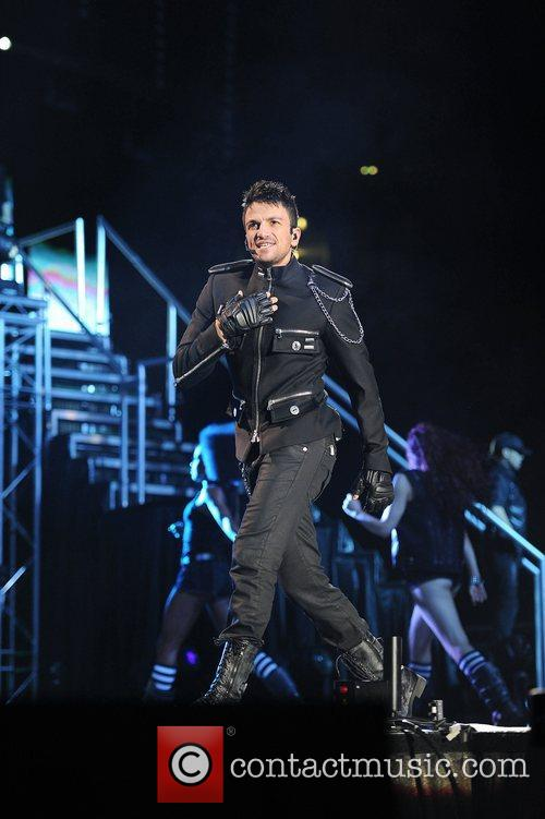Peter Andre performing in concert at the MEN...