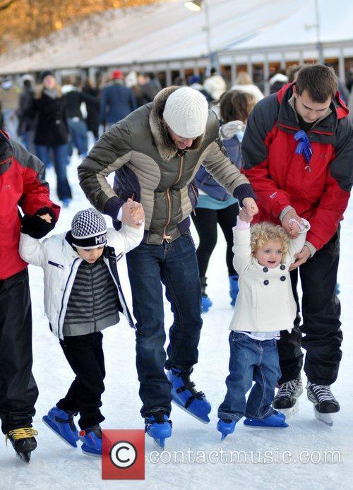 Ice Skating at 'Winter Wonderland' in Hyde Park