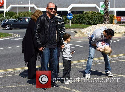 Peter Andre arriving at the Brighton Arena with...