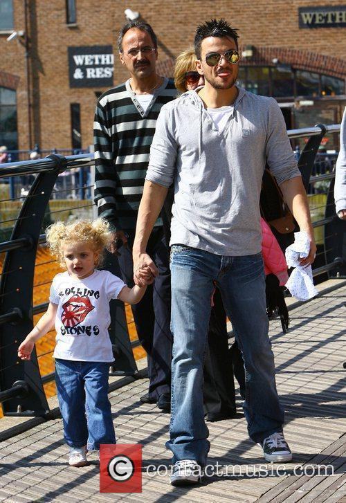 Peter Andre with his daughter Princess Tiaamii on...