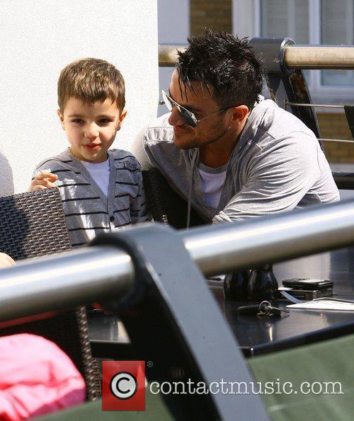 Peter Andre with his son Junior Andre on...
