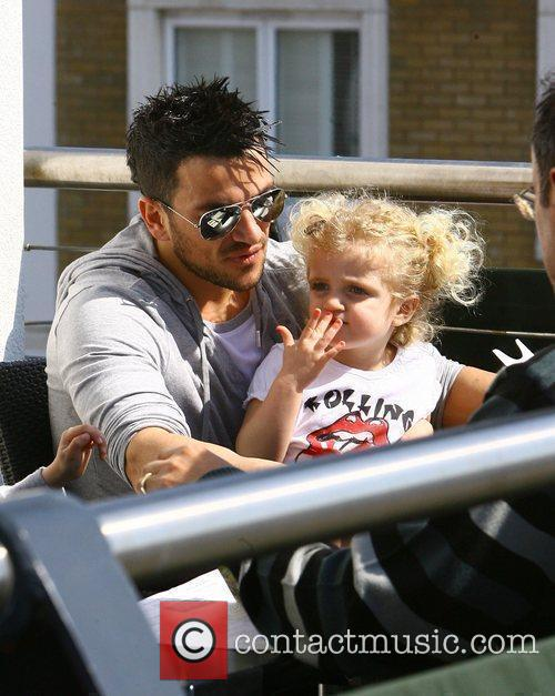 Peter Andre with his daughter Princess Tiaamii having...