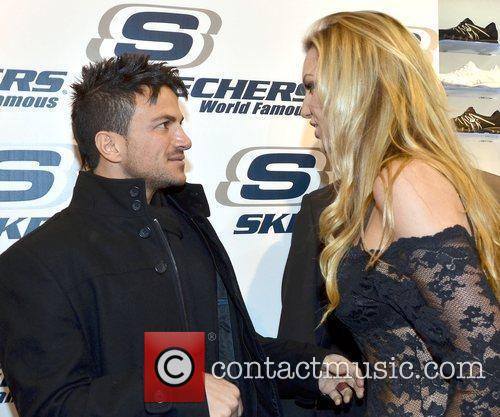 Peter Andre and Rosanna Davison attend the launch...