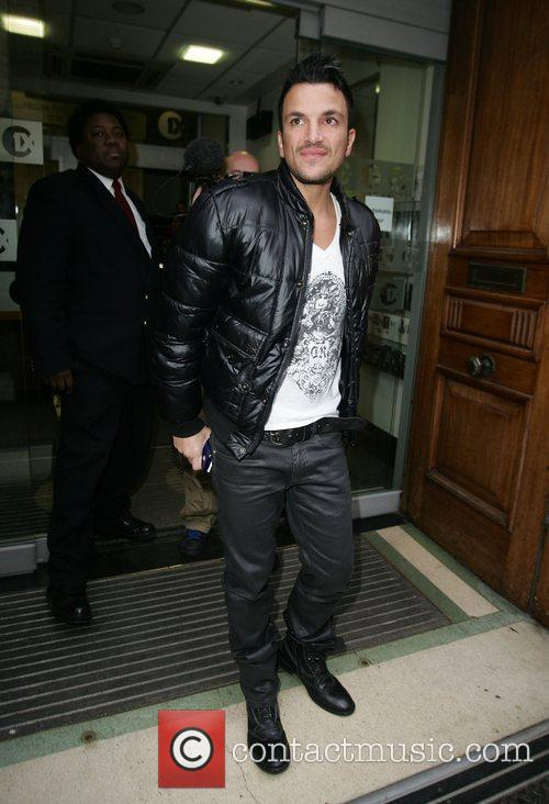 Peter Andre leaving the BBC Radio One studios...