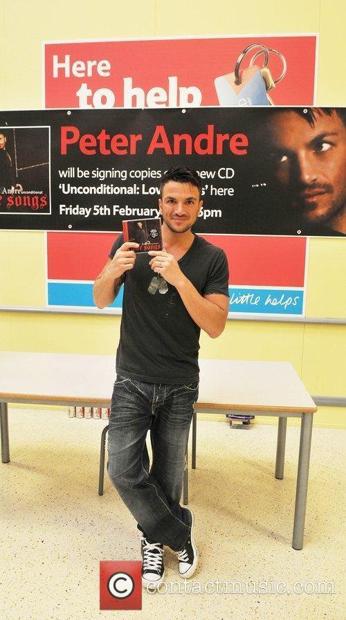Peter Andre  at Tesco Chesterfield where he...