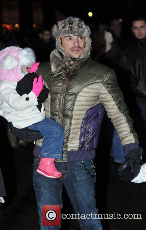 Peter Andre with Princess Tiaamii  at 'Winter...