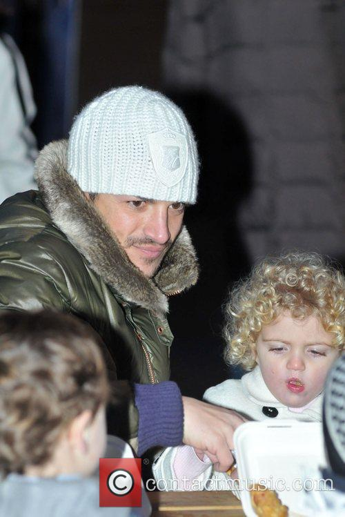 Peter Andre with Junior and Princess Tiaamii...