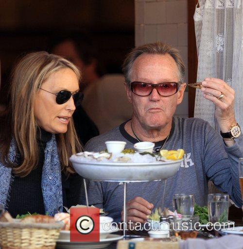 Actor Peter Fonda and his girlfriend Parky DeVogelaere...
