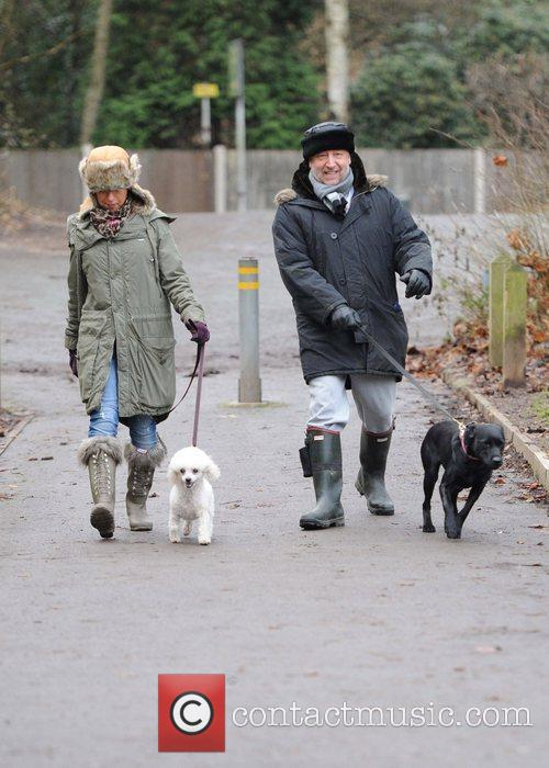 Peter Hook taking his dogs for a walk...