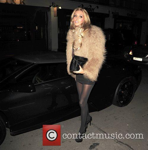 Petra Ecclestone arrives at C London restaurant in...
