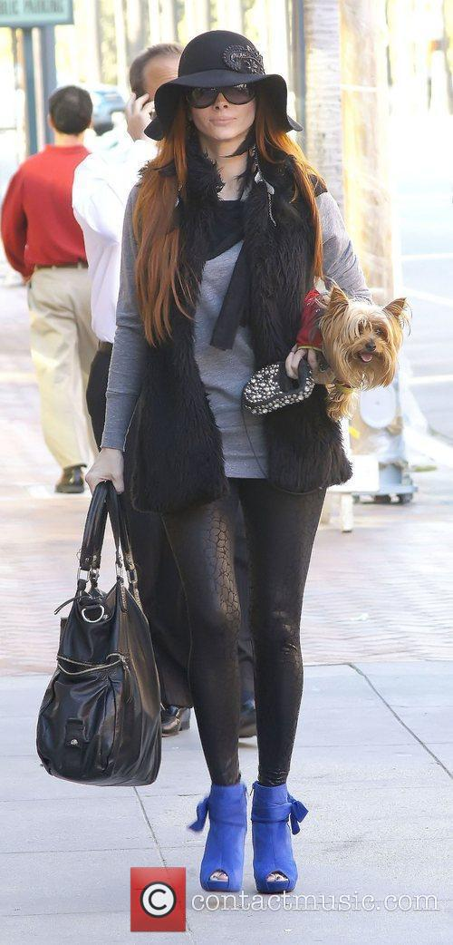 Phoebe Price takes her dog for a stroll...