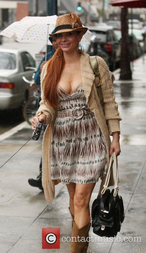 Phoebe Price shopping in Beverly Hills with her...