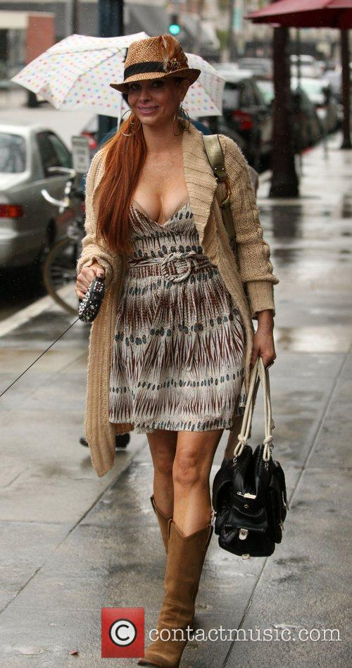 Shopping in Beverly Hills with her mother.