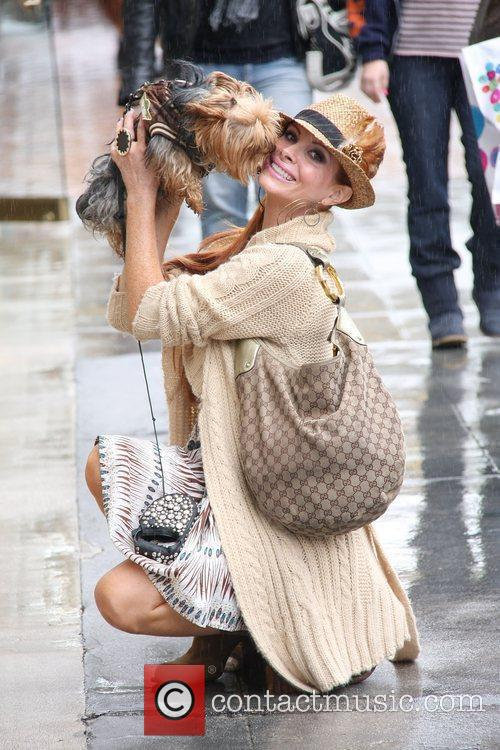 Shopping in Beverly Hills with her dog Henry....