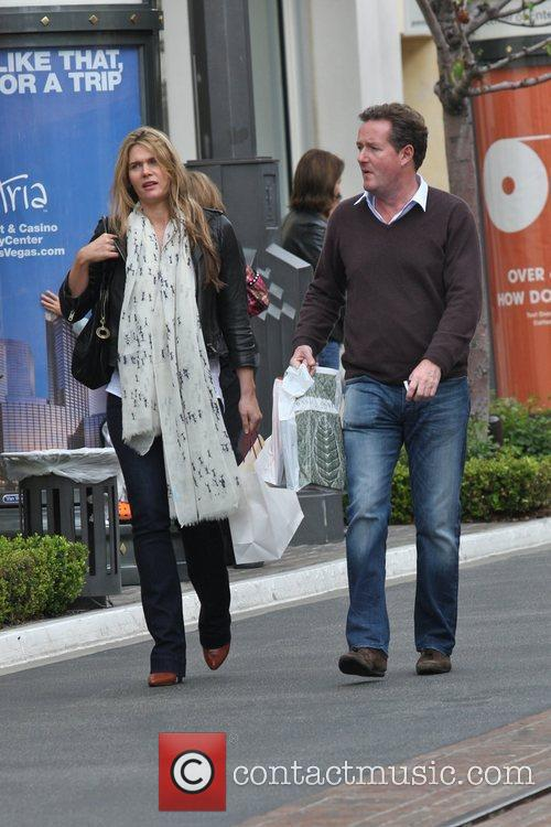 Piers Morgan and fiancee Celia Walden  out...