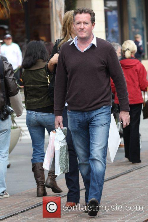 Piers Morgan out shopping at The Grove mall...