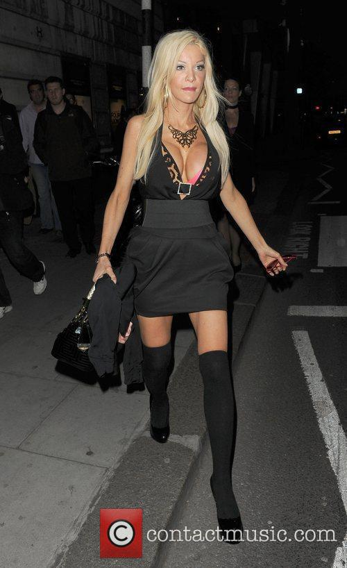 Model Alicia Douvall, leaving the UK film premiere...