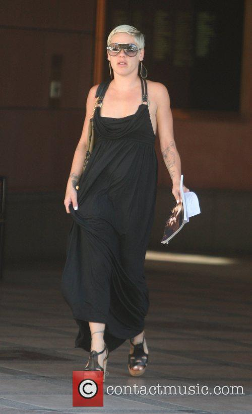 Pink visits a medical building in Beverly Hills...