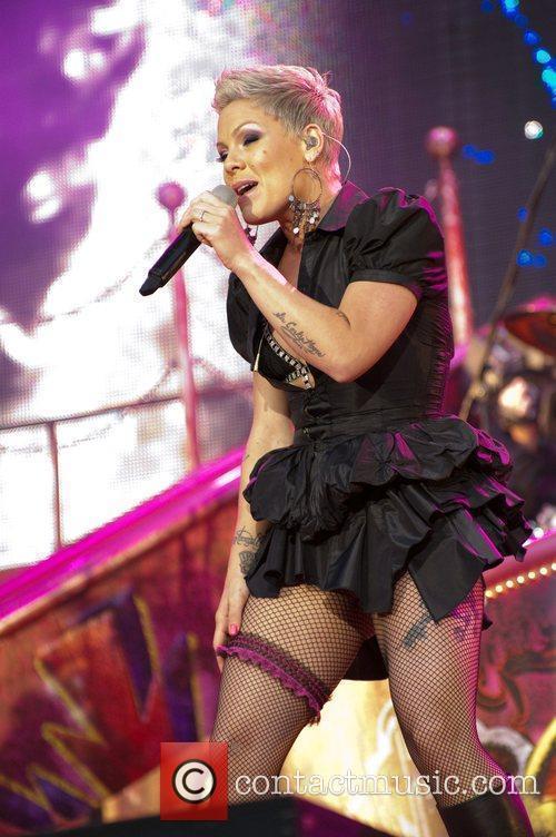 Pink performs at Sunderland Stadium of Light London,...