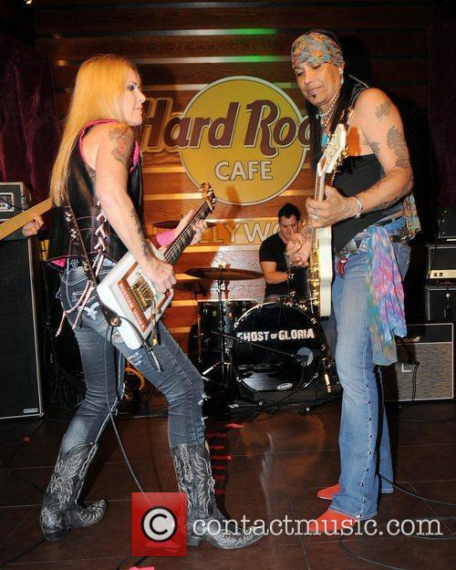 Lita Ford and Micki Free perform at the...