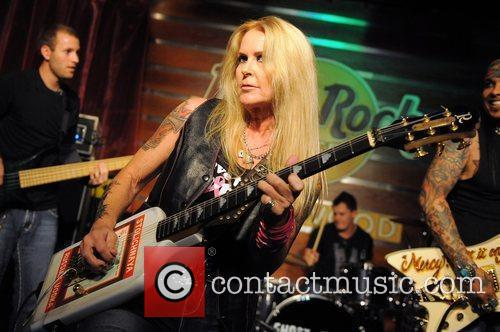 Lita Ford  performs at the Pinktober event...