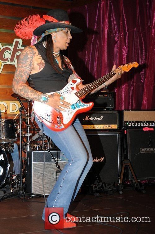 Micki Free performs at the Pinktober event to...