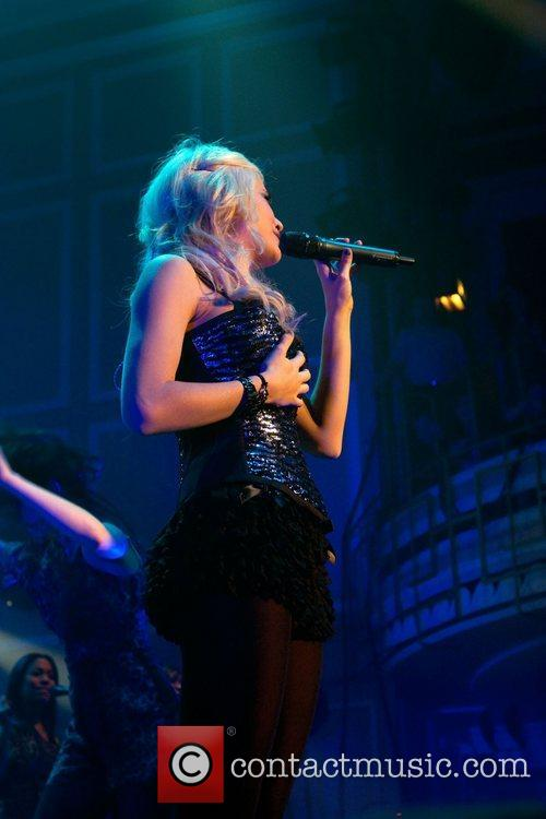 Pixie Lott performing at Newcastle City Hall as...