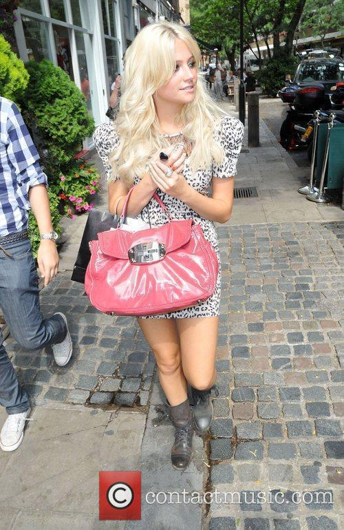 Pixie Lott arriving at Circus to promote her...