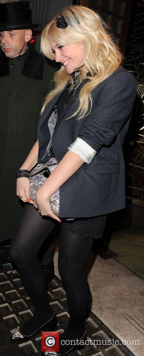 Pixie Lott leaving The Ivy restaurant, having had...