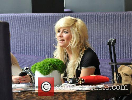 Pixie Lott meets friends for lunch at the...