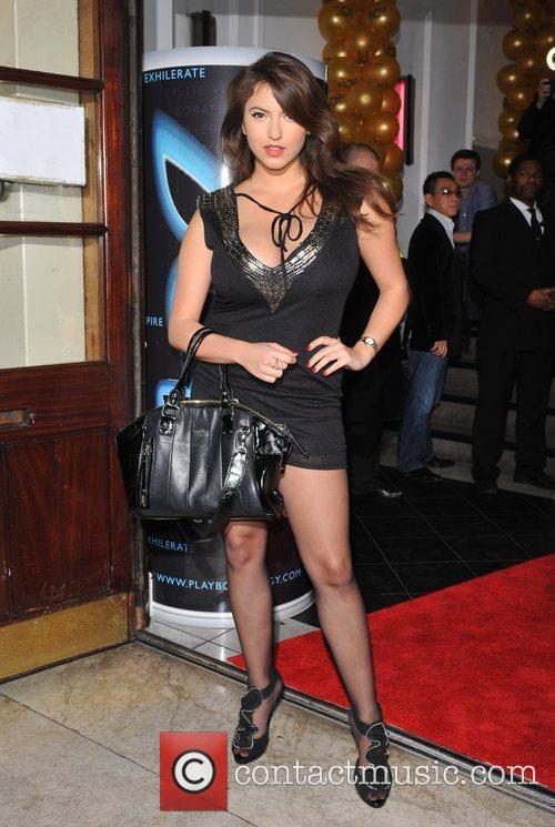 Francoise Boufhal Playboy Energy Drink launch held at...