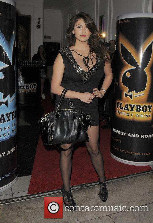 Francoise Boufhal Playboy Energy Drink launch party, held...