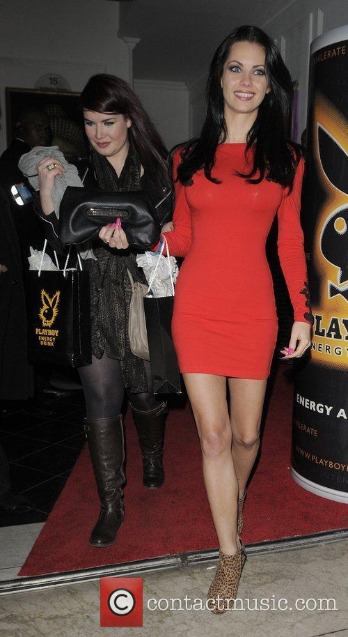 Jesscia-Jane Clement Playboy Energy Drink launch party, held...