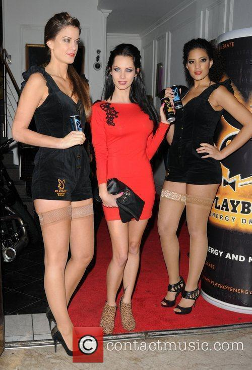 Jessica-Jane Clement Playboy Energy Drink launch party held...