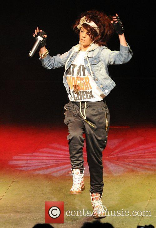 X Factor finalist Cher Lloyd performing in Pop...